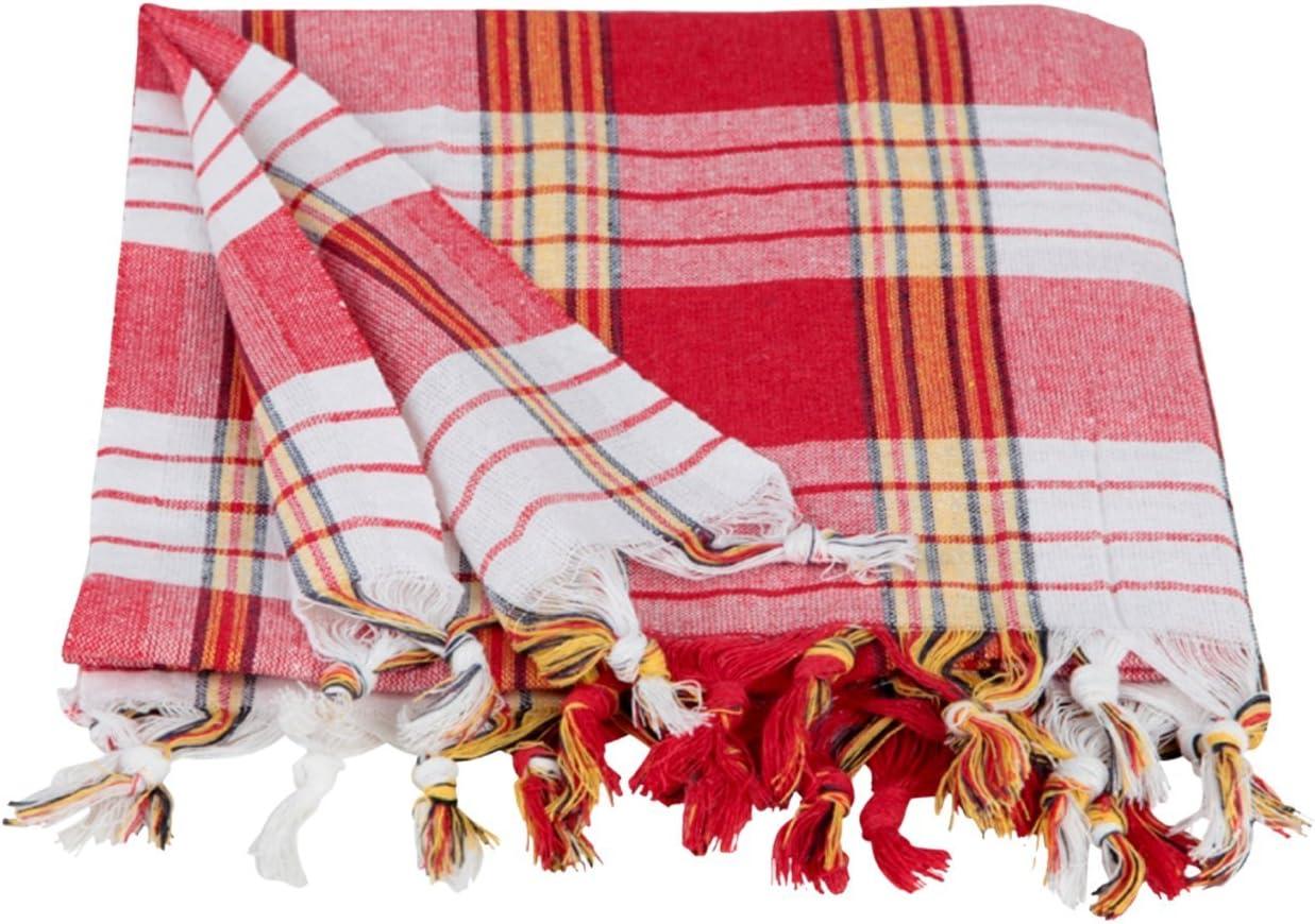Pestemal Lendentuch Hamamtuch Saunatuch Strandtuch Handtuch Streifen fein rot