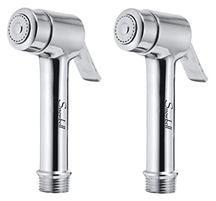 Snowbell Micro Health Faucet Head Brass Chrome Plated - Set of 2