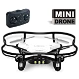 Mini RC Quadcopter 4 Channel 2.4 GHz 6-axis Gyro ,Mini Drone RTF GD50F (White)