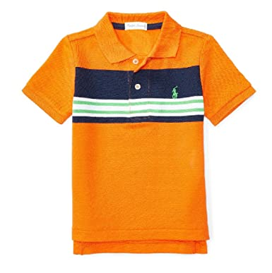 68faa3204721 Amazon.com  Ralph Lauren Baby Boys  Striped Cotton Mesh Polo Shirt ...