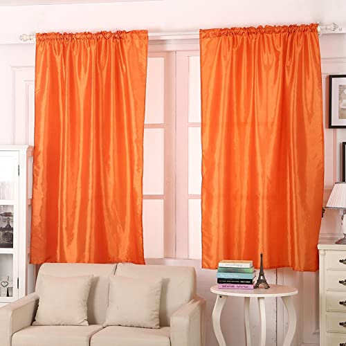 Beau AIHOME Thermal Insulated Top Eyelet Blackout Curtains Polyester Blend For  Bedroom Living Room Balcony Orange