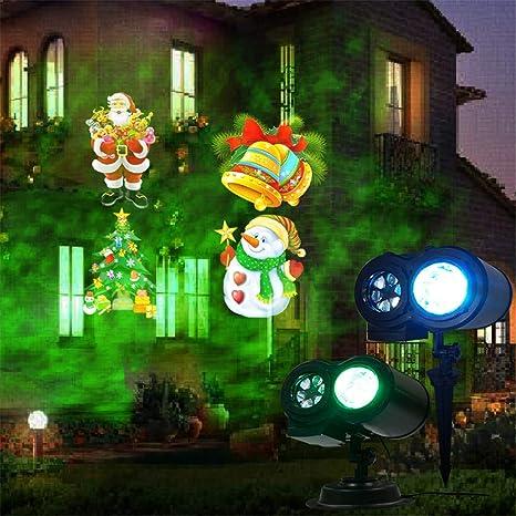 00ea2a73f9b Navidad proyección lámpara Doble Barril patrón Agua patrón luz inalámbrica  Control Remoto Tablero Gadgets Exterior 12