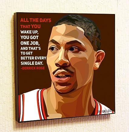 Amazon.com: Derrick Rose NBA Backetball Motivational Quotes Wall ...