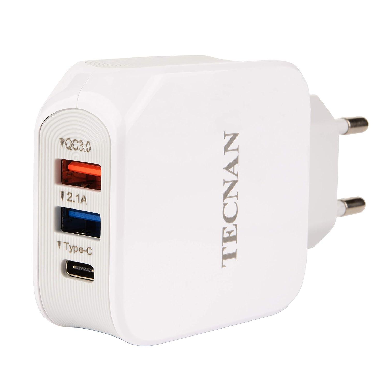 tecnan Quick Charge 3.0 Cargador USB 3 A 15 W Conector de ...