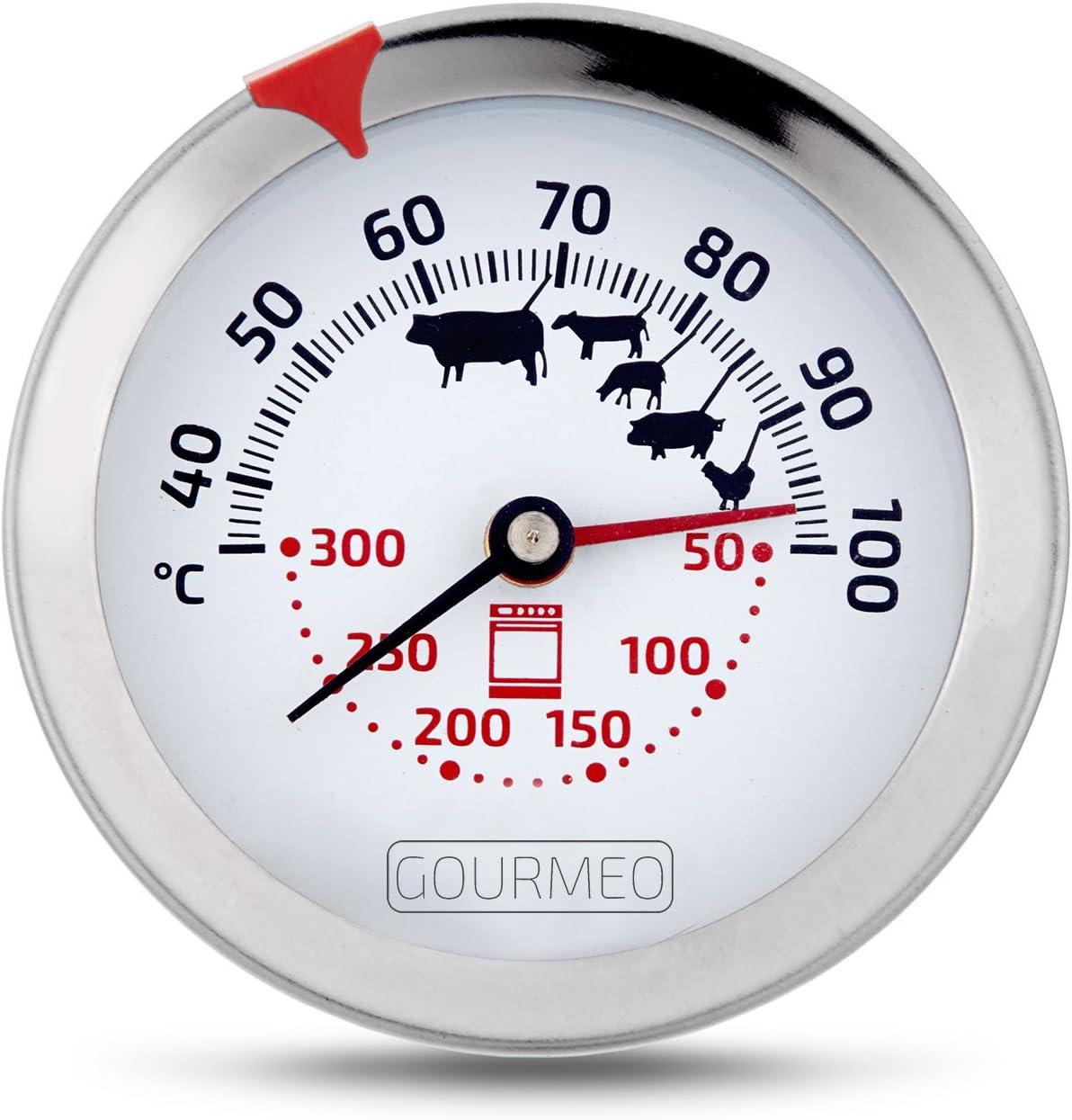 0-500° C Fleischthermometer Backofenthermometer Grillthermometer Küche Koch