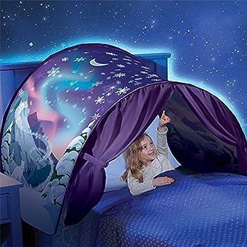 Kangrunmy/_ Tente De Lit Enfant Garcon Fille Princesse Tunne Lit R/êVe Jouer Pop Up Ciels Lit Playhouse Interieur Tent Cadeau Moustiquaires Ciels de Lit