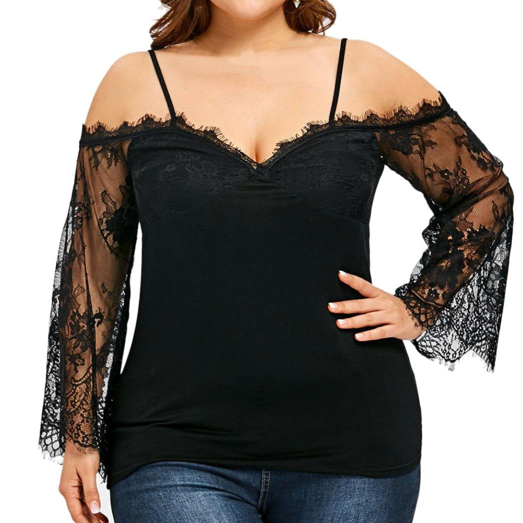 Amazon.com : HOSOME Women Top Women Off Shoulder Lace Top Long Sleeve Blouse Ladies Casual Tops Shirt : Grocery & Gourmet Food