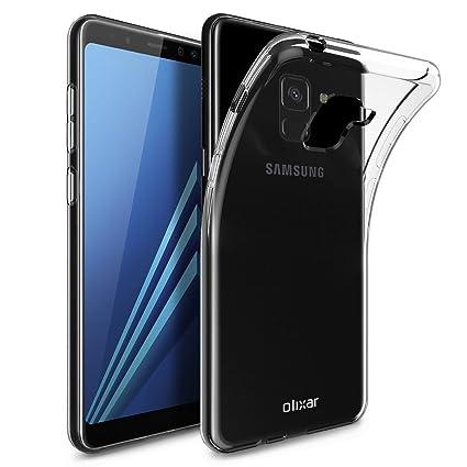 the best attitude bd69d ec027 Olixar Samsung Galaxy A8 2018 Clear Case - Slim Soft Gel Cover - Ultra Thin  100% Clear - Flexible Transparent Case