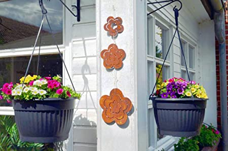 Hkt Home Deco Blume Rost Metall Edelrost Zum Hangen Blumen