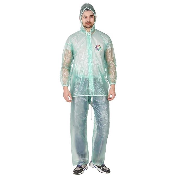 100% original save up to 60% arrives Rainbow Men's PVC Raincoat with Attached Cap (XX-Large ...