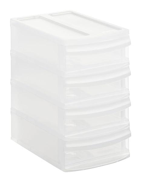 Rotho Systemix 1147096096 - Cajón archivador de plástico, tamaño XS (19,6 x