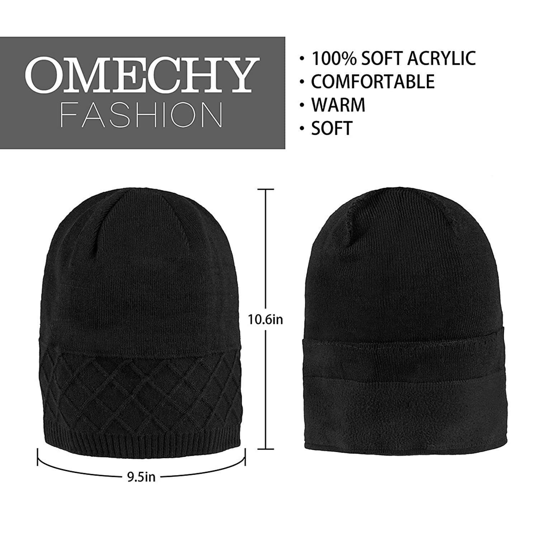 cdb7e87638d Amazon.com  OMECHY Unisex Slouchy Beanie Hats Winter Warm Knit Hat Skull  Ski Cap