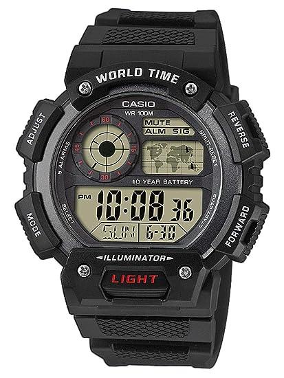 Casio Reloj Digital para Hombre de Cuarzo con Correa en Resina AE-1400WH-1AVEF: Amazon.es: Relojes