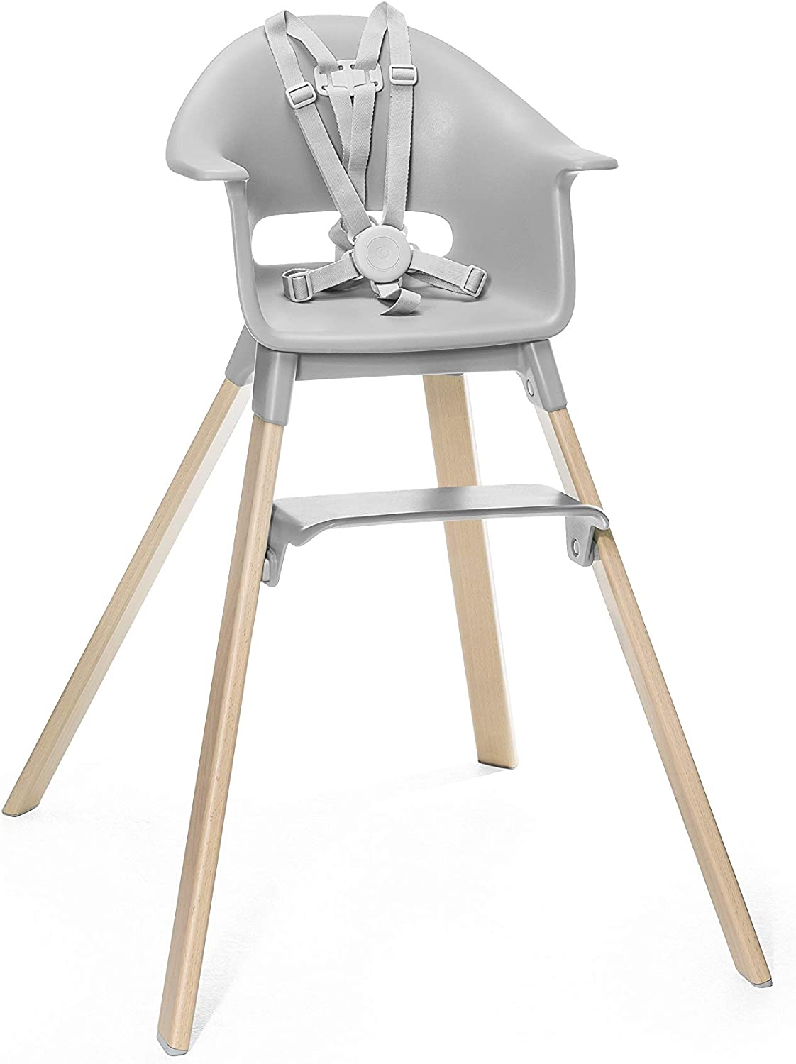 Adjustable Grow-Along Chair for Children with Tray and Safety Harness Colour: White Suitable from 6 Months to 3 Years Stokke Clikk High Chair