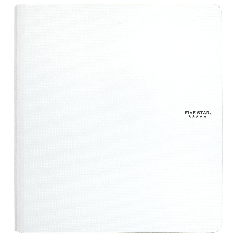 Five Star 1-1/2 Inch 3 Ring Binder, Plastic, White (38916)