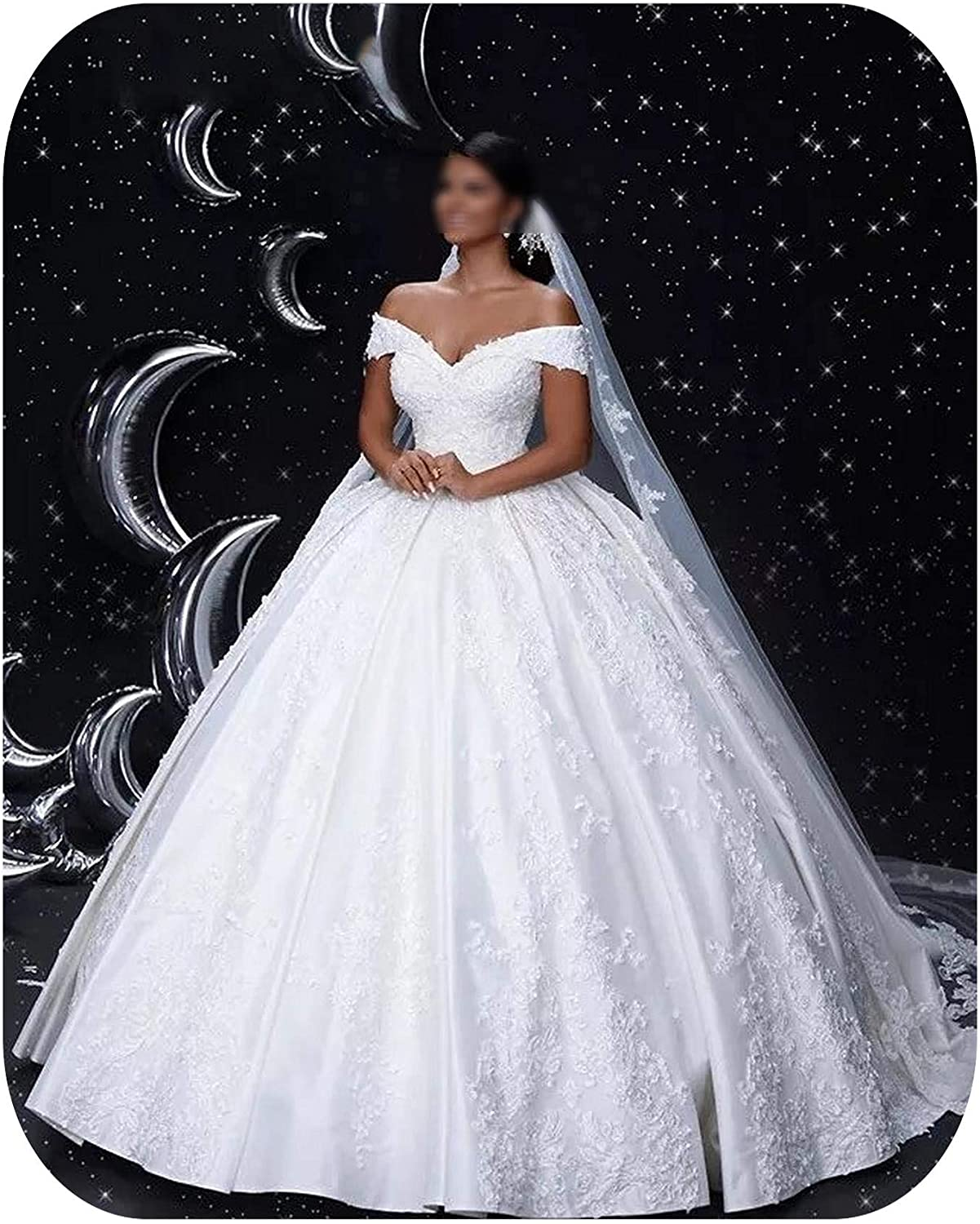 Amazon Com Cinderella V Neck The Shoulder Lace Up Back Applique Crystal Beaded Satin Ball Gown Wedding Dresses Ivory 2 China 50cm Clothing,Cost Of Wedding Dress Preservation