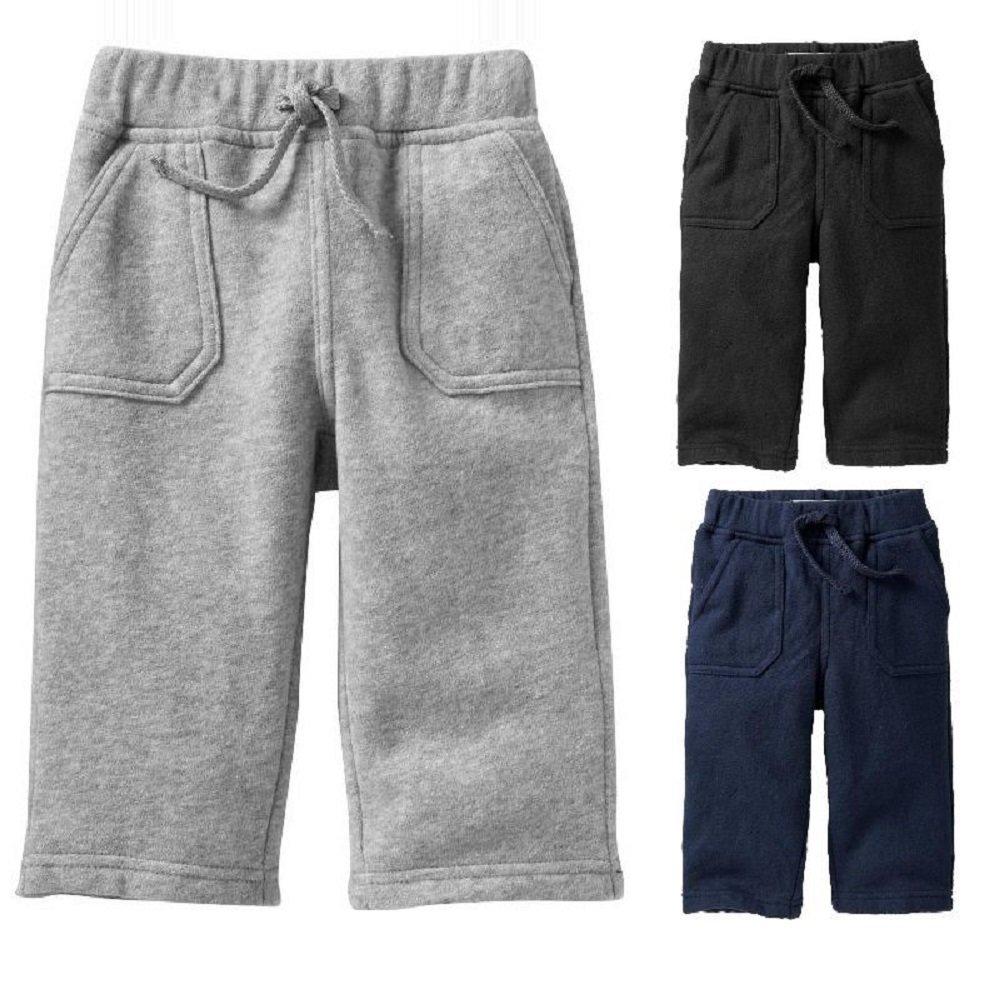 'Gap' Baby Boy Cozy Fleece Jogging Bottoms Joggers Jog Pants Toddler Black Grey