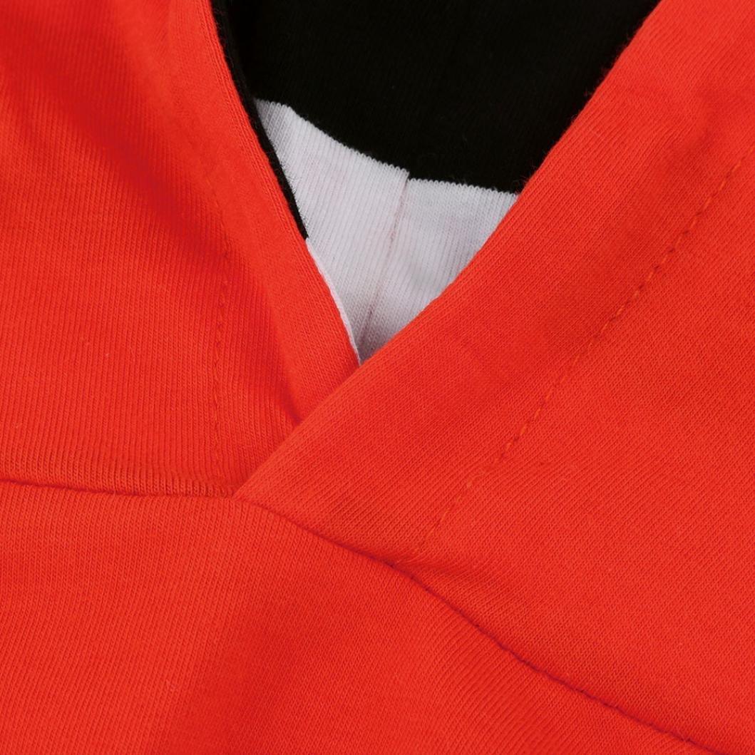 HYMax B/éb/é Enfant Gar/çon Filles Citrouille Capuche Chemisier Stripe Pantalons Halloween Tenues Ensemble