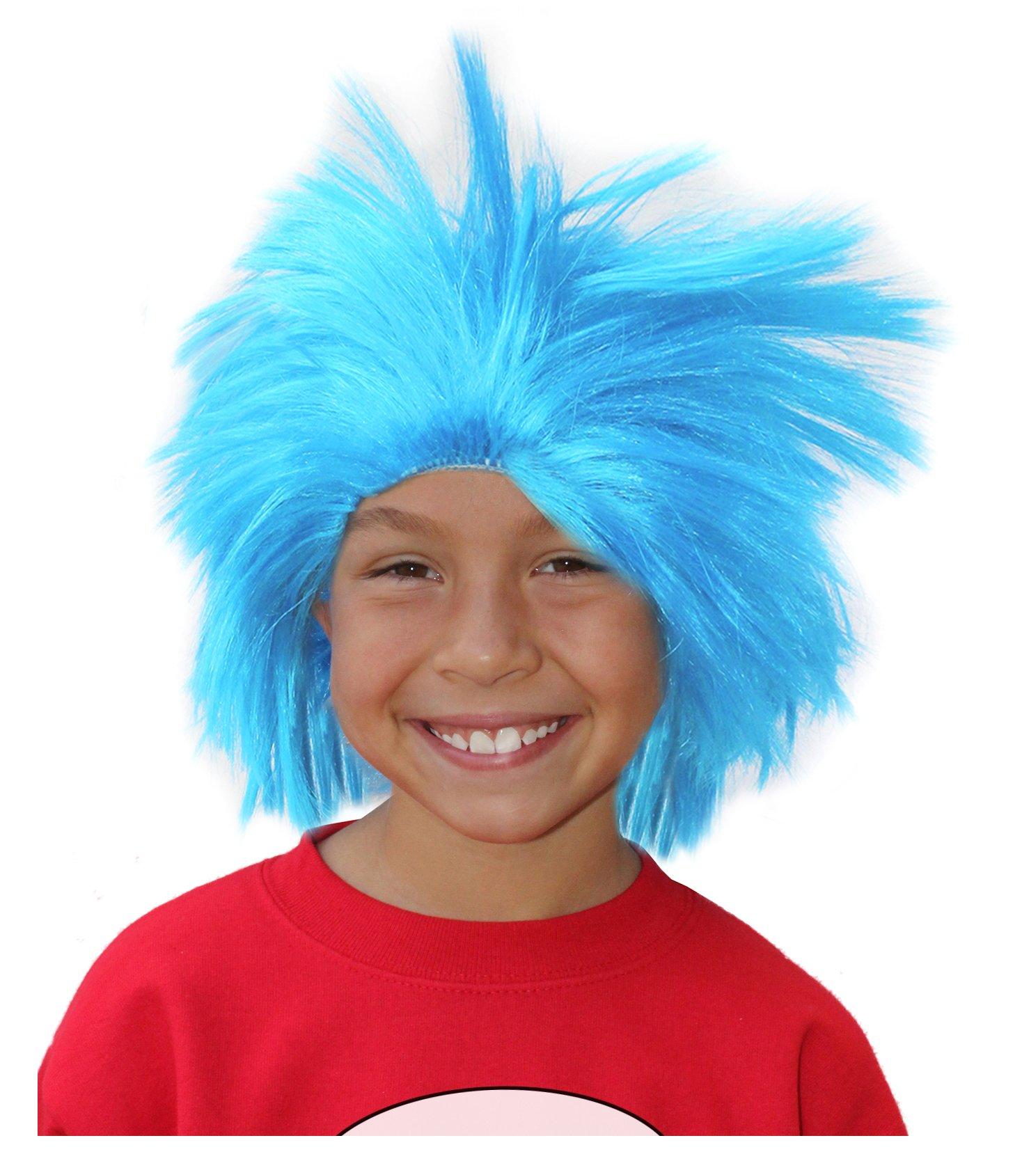 Blue Thing Wig Blue Thing 1 Wig Thing 1 and Thing 2 Costumes Wig Rick Wig Thing