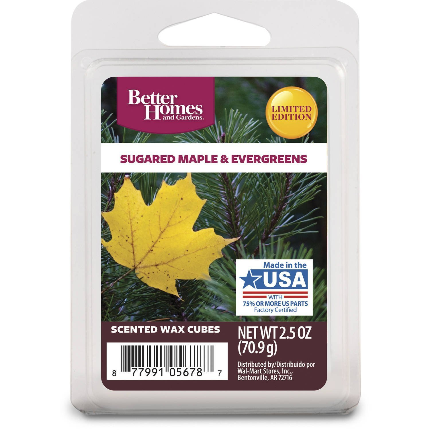 Better Homes and Gardens Sugared Maple and Evergreensワックスキューブ B01M34LYRJ