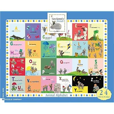 New York Puzzle Company - Leo Lionni Animal Alphabet - 24 Piece Jigsaw Puzzle: Toys & Games