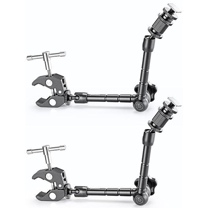 72 opinioni per Neewer® 2 staffe da 28 cm, regolabili, con gancio a morsetto, per fotocamere
