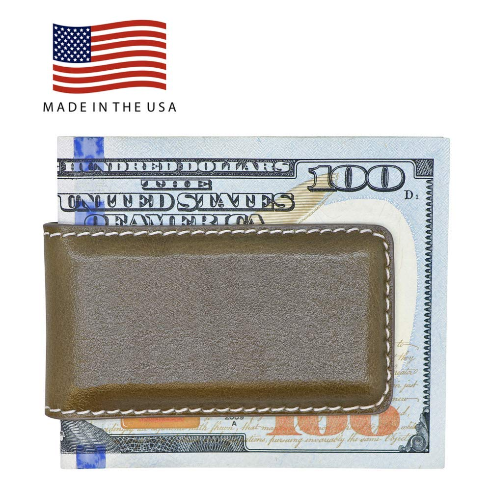 Strong Shielded Magnets American Factory Direct Made in USA by Real Leather Creations FBA1061 Genuine Leather Money Clips