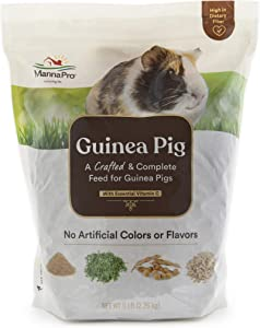 Manna Pro Guinea Pig Feed   with Vitamin C   Complete Feed for Guinea Pigs   No Artificial Colors or Flavors   5 lb
