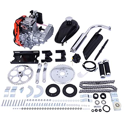 Buy 49cc Bike Bicycle Engine Kit Motorized Bike 4 Stroke Gas Petrol Motorized Bike Engine Scooter Parts For 26 Bikes Shipped From Us Silver 49cc Online At Low Prices In India