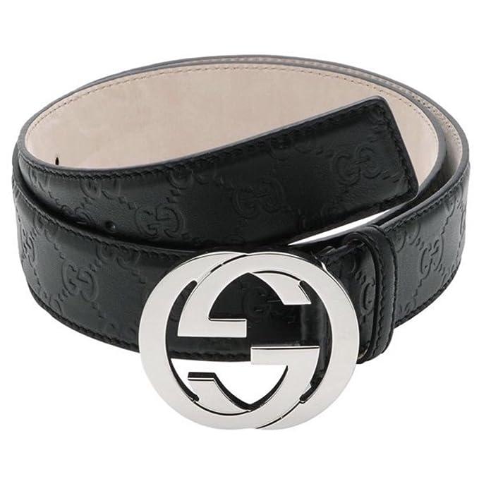 6e04c3169 Authentic Gucci Men's Black Guccissima Belt G Buckle 114984 AA61N (115cm  waist 40-42): Amazon.ca: Clothing & Accessories