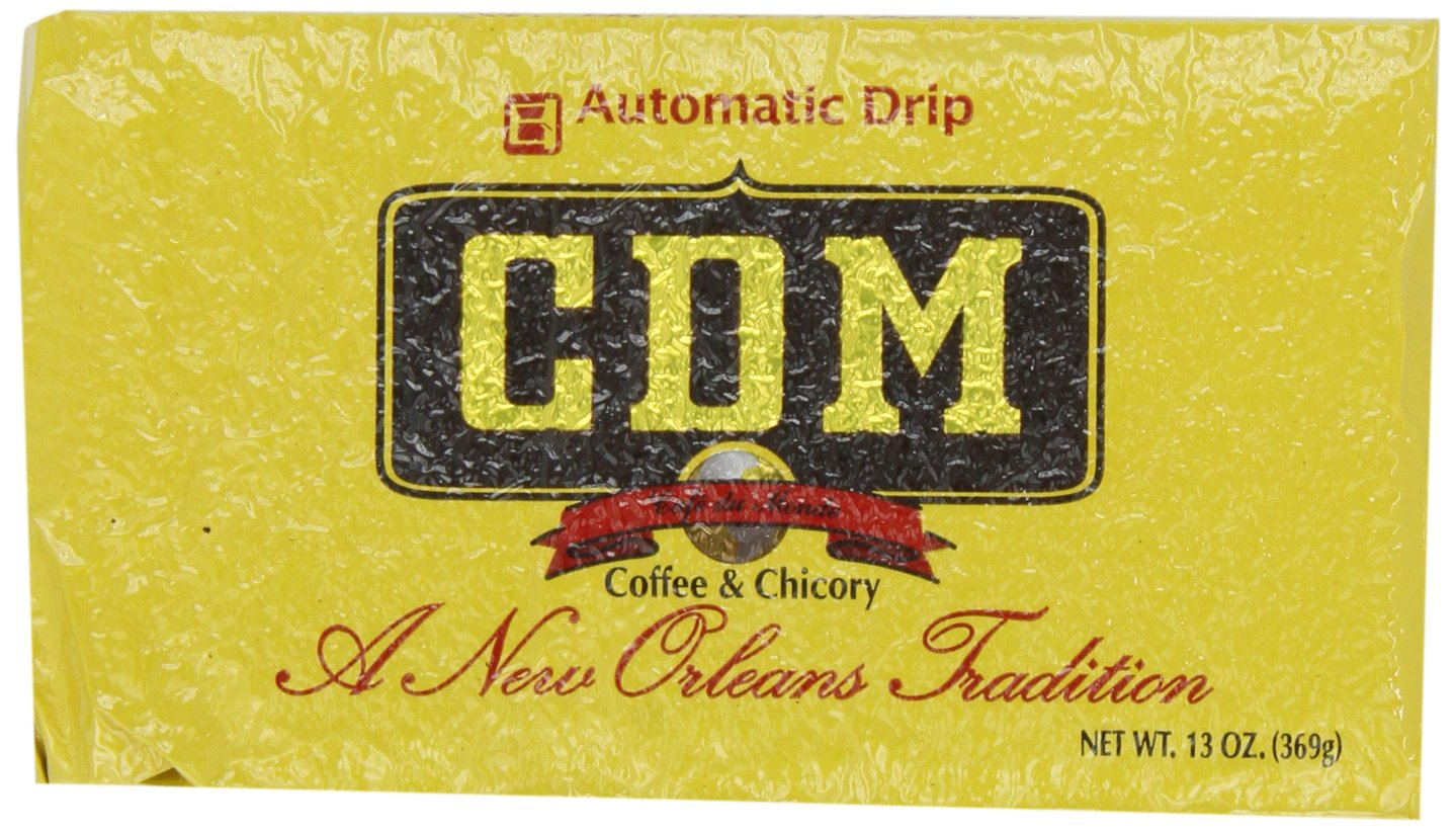 CDM Coffee and Chicory, Regular Grind, 13-Ounce Bricks Automatic Drip (Pack of 4)