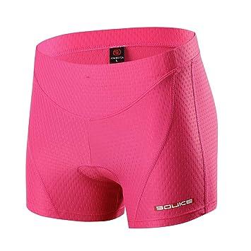 100% de satisfacción venta de liquidación muy agradable Ropa interior de ciclismo para mujer Souke Sports, acolchado 4D,  transpirable, short