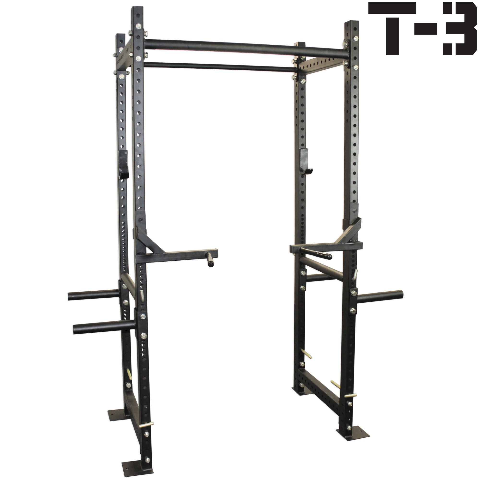 Titan T-3 Series HD Power Rack with Dip Bars Squat Deadlift Lift Cage cross fit by Titan Fitness