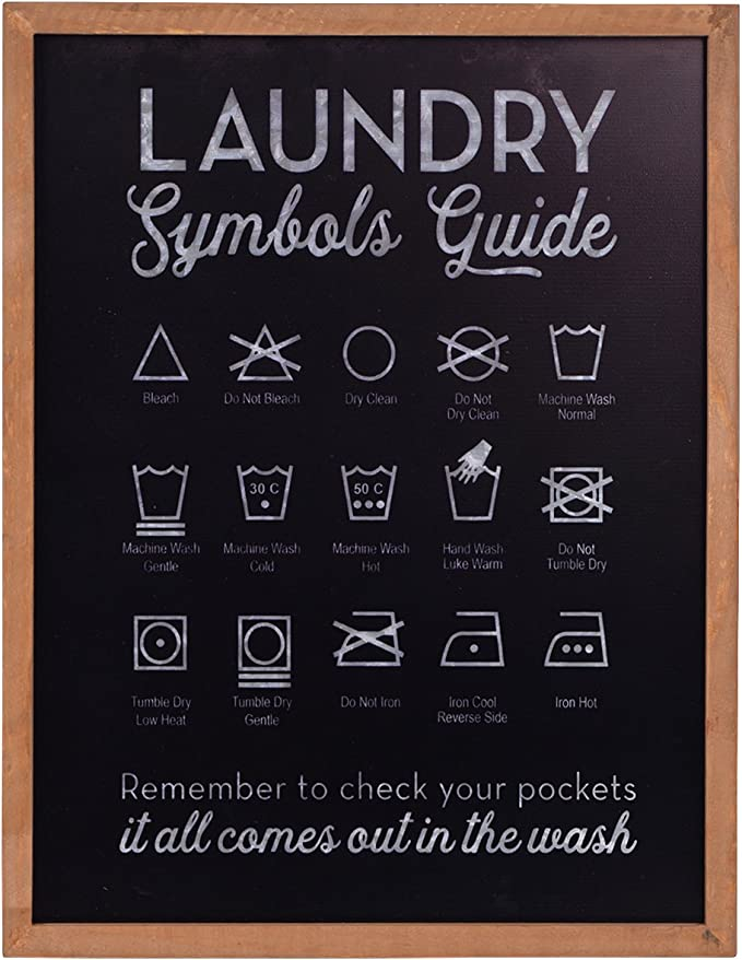 Nikky Home Metal Laundry Symbols Guide Wall Decor Sign Everything Else Amazon Com
