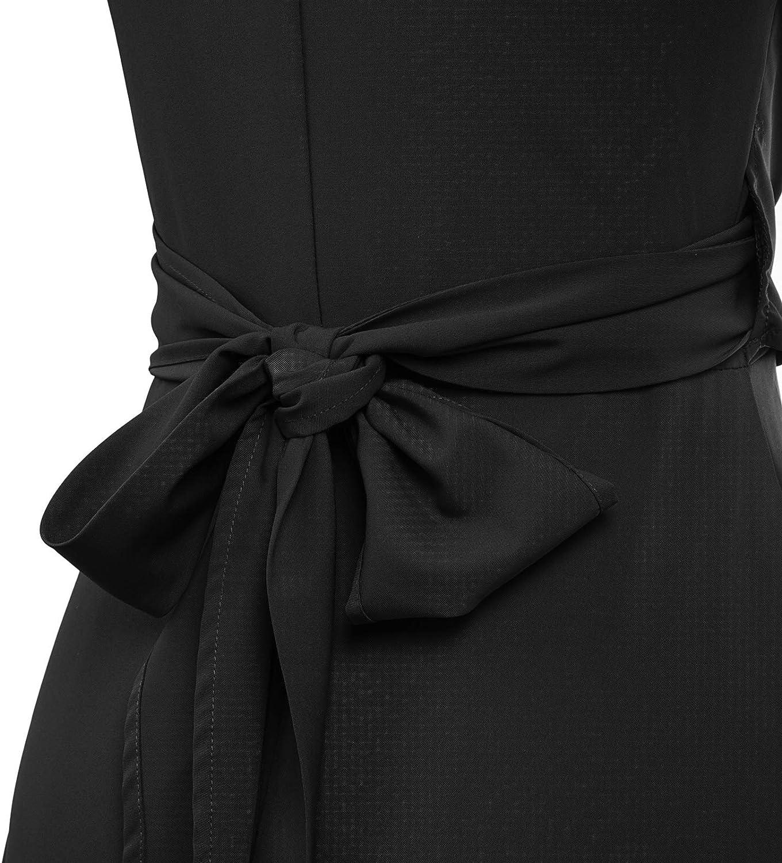 GRACE KARIN Vestido Elegante para Mujer con Escote en V Dobladillo Irregular para Fiesta Ceremonia