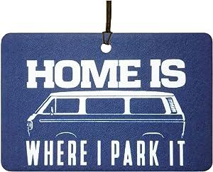 Home is Where I Park It Car Air Freshener (Xmas Christmas Stocking Filler/Secret Santa Gift)