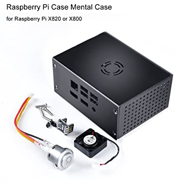 MakerFocus Raspberry Pi Case Mental Case with Cooling Fan and Power Control Switch for Raspberry Pi