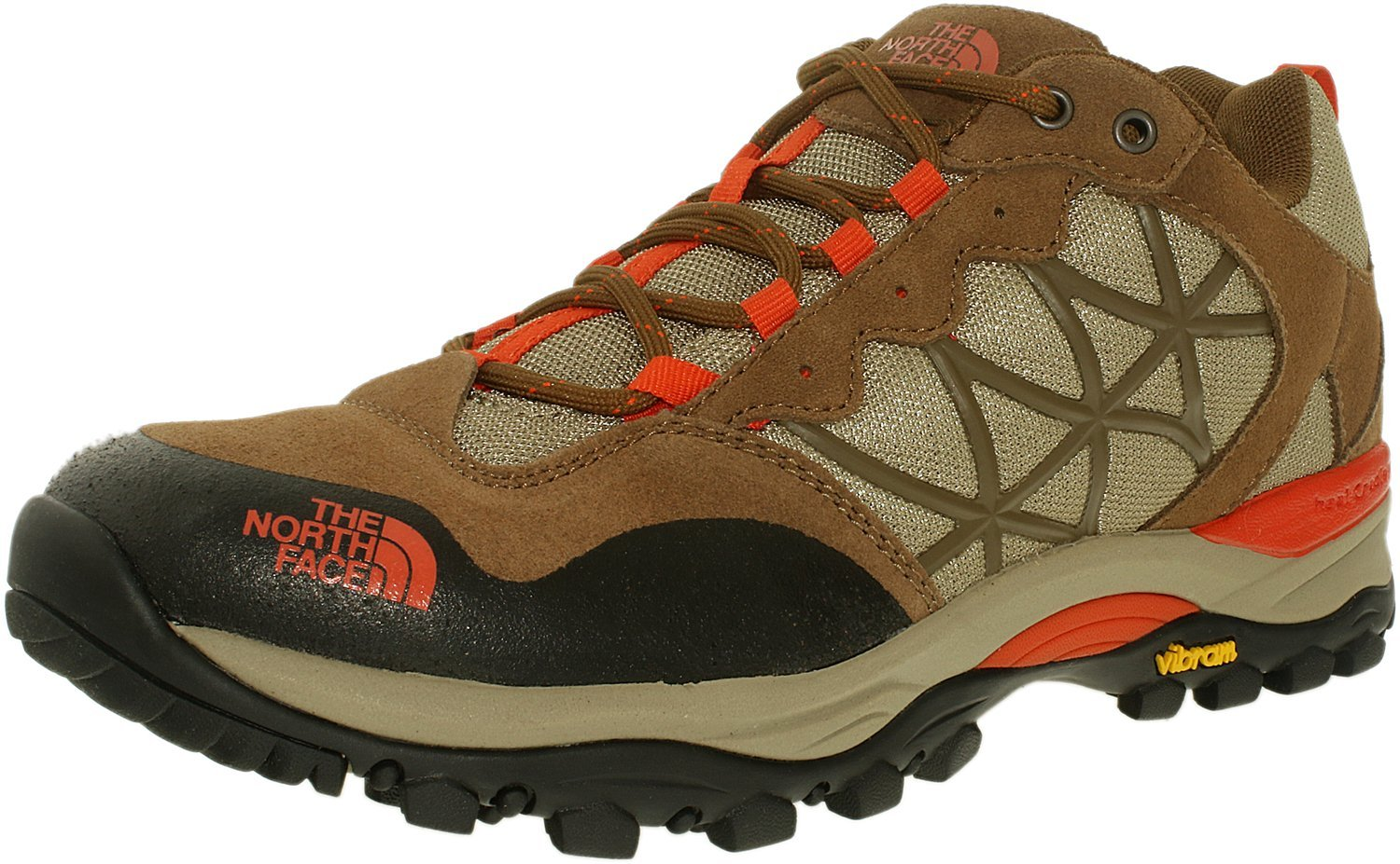 The North Face Women's Storm Sepia Brown/Spicy Orange Low Top Fabric Hiking Shoe - 7.5M