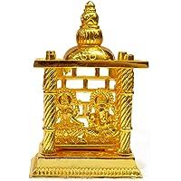 Craftsman Beautiful Gold Plated Lakshmi Ganesha Mandir. Statue for Diwali/Deepawali Pooja puja. Laxmi Ganesh Statue…