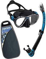 Cressi Big Eyes Evolution & Alpha Ultra Dry - Professional Combo Set per Immersioni e Snorkelling