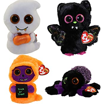 Ty Beanie Boos 2017 Halloween Collection: Creeper, Dart, Scream and Skelton!