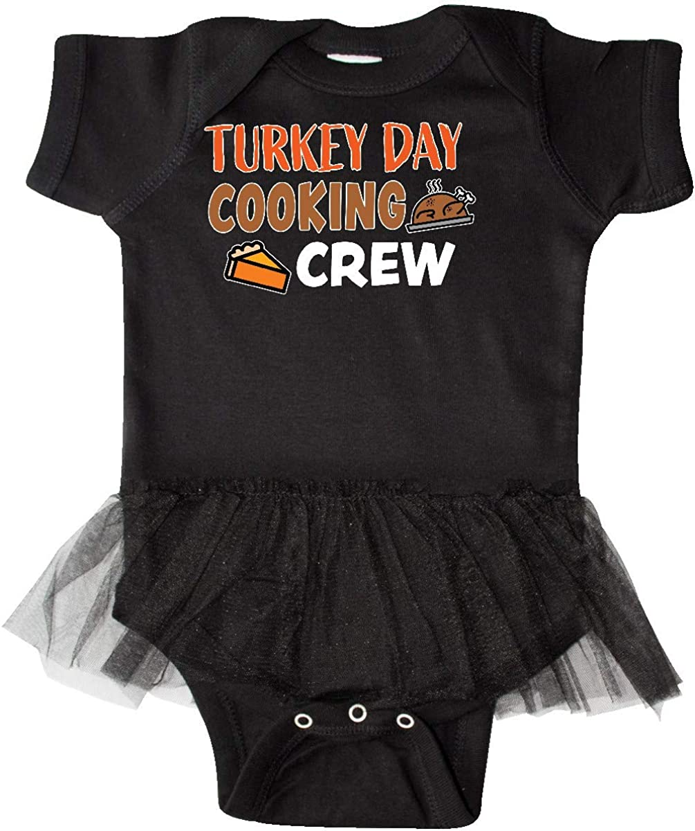 inktastic Thanksgiving Turkey Day Cooking Crew with Turkey Infant Tutu Bodysuit