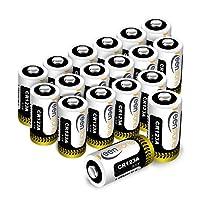 Batteria CR123A, 18pcs 1600mAh CR123A Batteria al Litio Non Ricaricabili