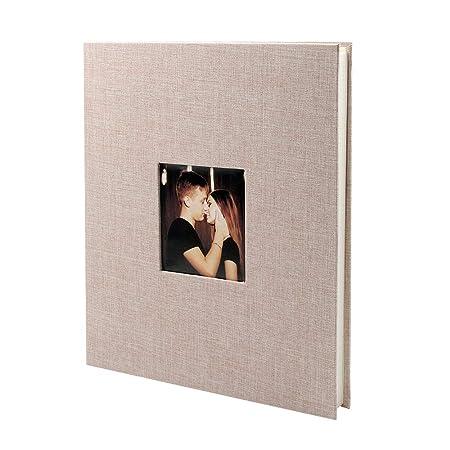 VEESUN Álbum de Fotos para Pegar Lino Álbum Scrapbooking DIY ...