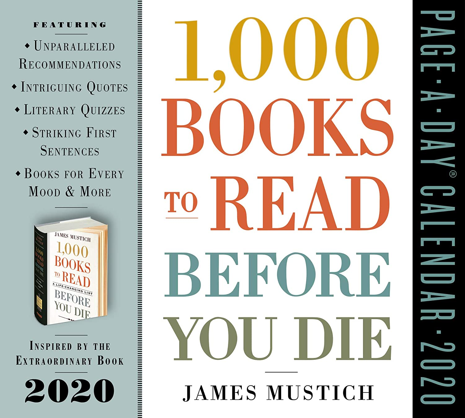 List Of 2020 Books.1000 Books To Read Before You Die Page A Day Calendar 2020 5 5 X 6 Inches