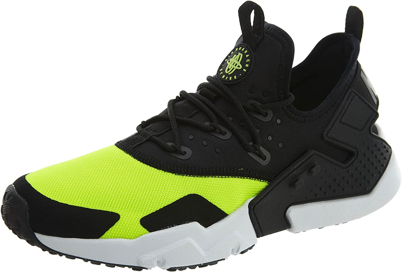 Nike Mens Air Huarache Drift Low Top Running Shoes Black 8 Medium (D)