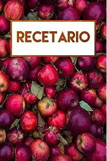 Recetario: Libreta en blanco a rayas, libro de recetas en blanco (Spanish Edition