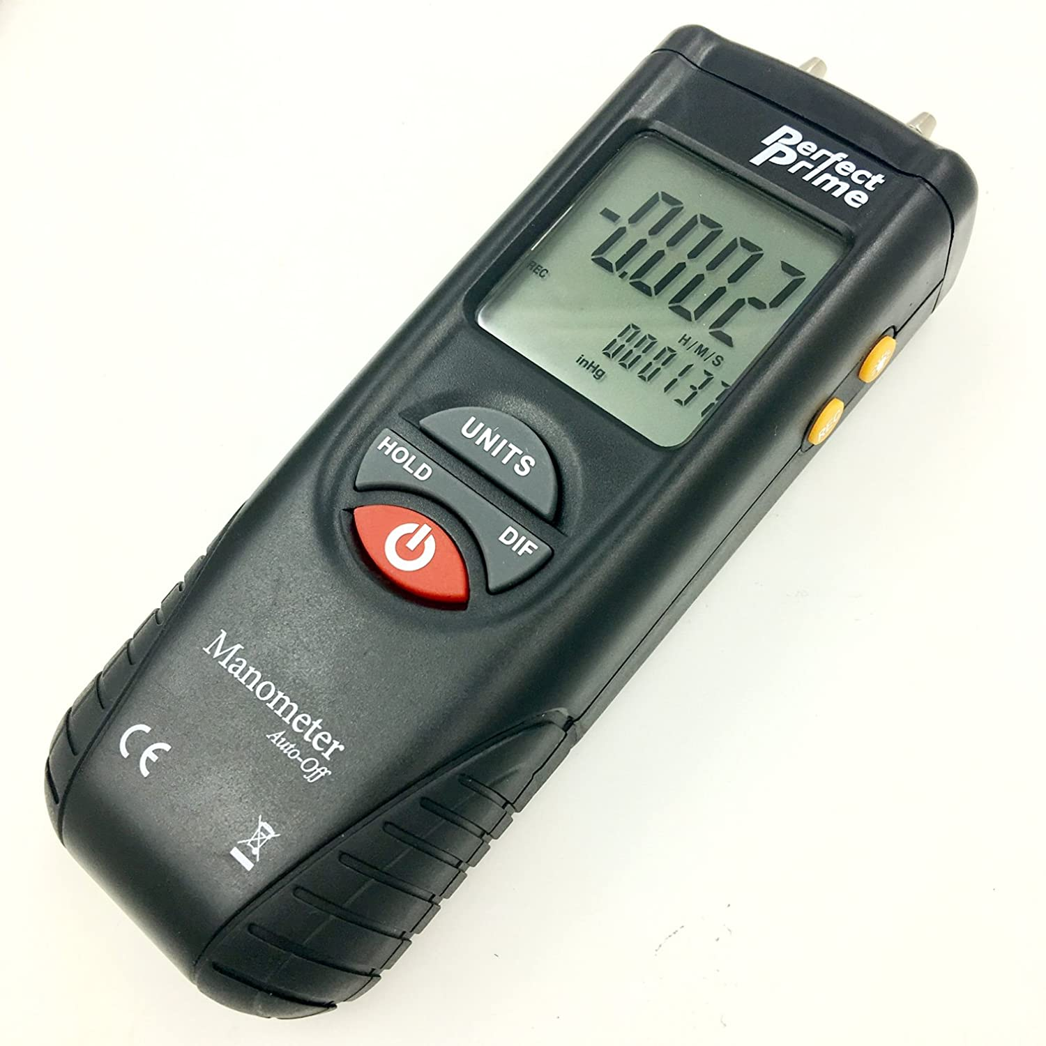 Perfect-Prime AR1890P1 /±55.4 H2O with 304 Stainless Steel Static Tube 5.13 x 2.34 Length /±2 psi Digital Air Pressure Manometer to Measure Gauge /& Differential Pressure /±13.79kPa
