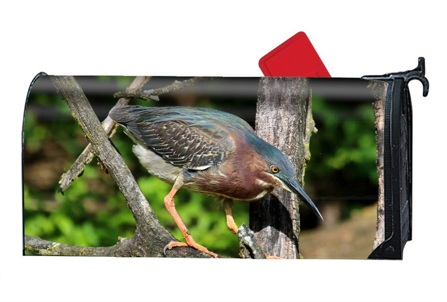 FunnyLife Animal Heron Birds Personalized Mailbox Cover Magnetic Spring Summer Fall Winter for Standard Mailboxes