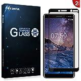 RIFFUE Nokia 7 Plus Pellicola Protettiva, Nokia 7 Plus Vetro Temperato Copertura Completa 3D Toccare Compatibile 9H Durezza Ultra Resistente Screen Protector per Nokia 7 Plus - Nero [2 Pack]